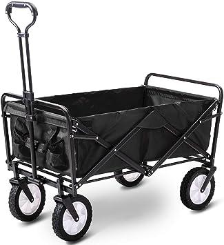 Carro de jardín Plegable Tire Carro Carro de mano Carrito de transporte de jardín Plegable: Amazon.es: Bricolaje y herramientas