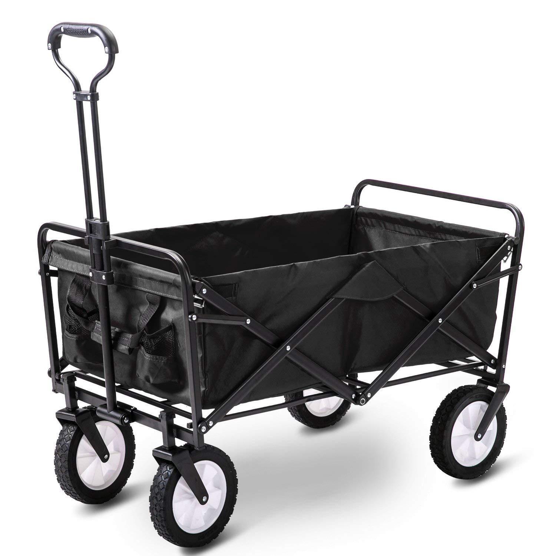 GARDEN CAR ZLMI Coche de jardín Plegable portátil de Gran Capacidad de Compras de comestibles Carretilla doméstica Tire del camión de Carga Camping Remolque Pet,B