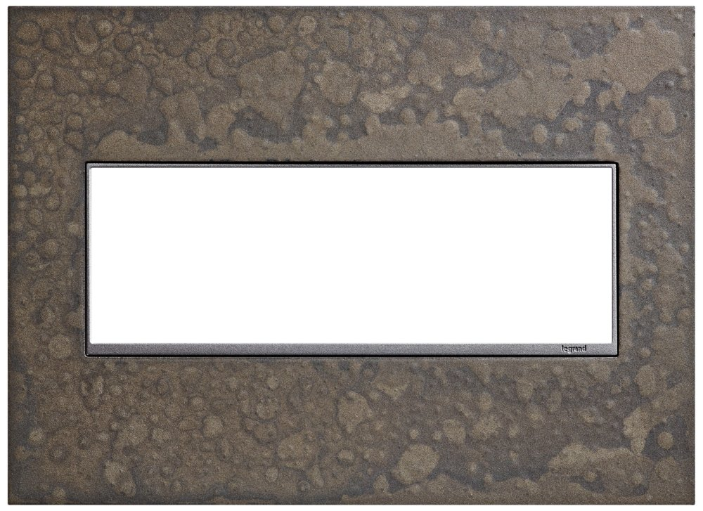 Legrand (AWM3GHFBS1) adorne Hubbardton Forge Burnished Steel, 3-Gang Wall Plate