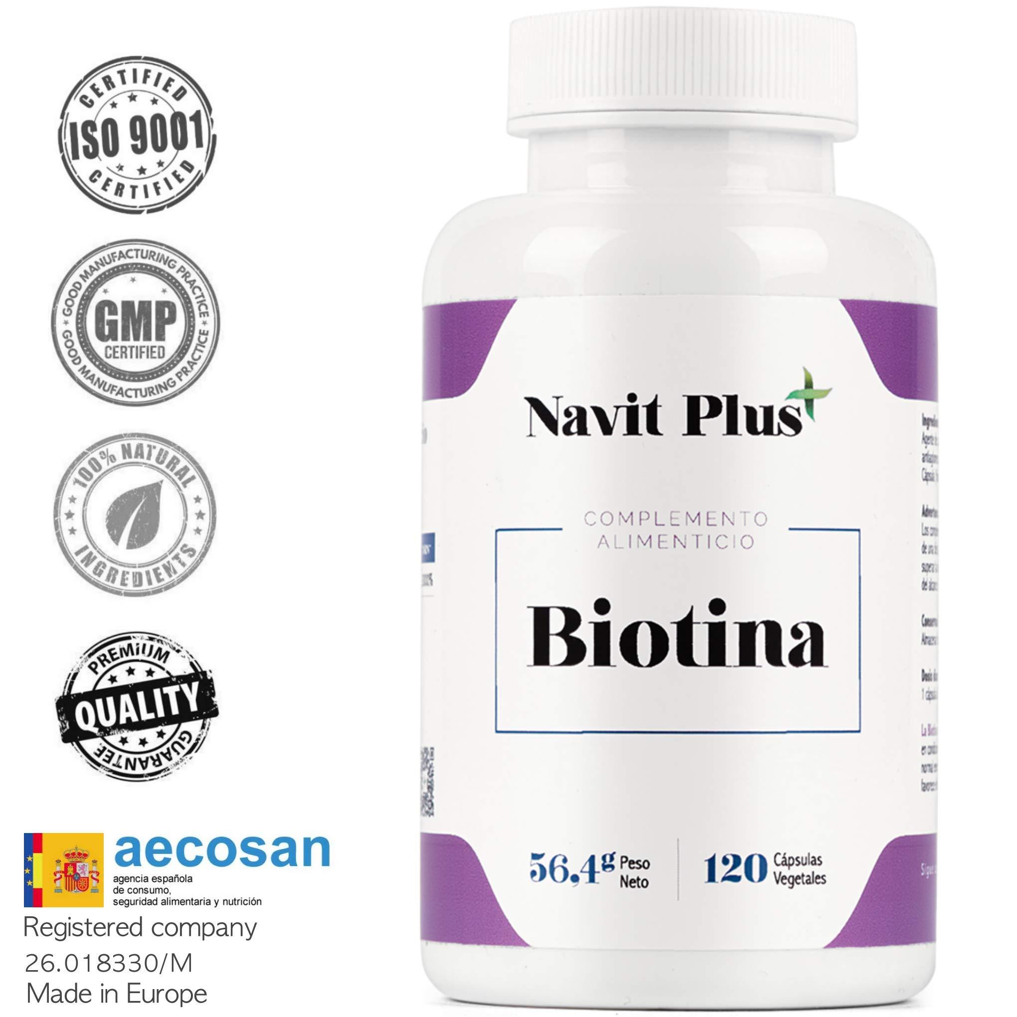Vitamine per la pelle di Biotina 10000mcg per rinforzare ed evitare la  caduta del 818d04848700