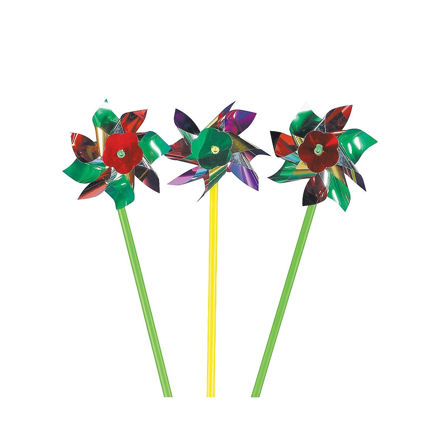 Fun Express Metallic Pinwheels - 72 Pieces