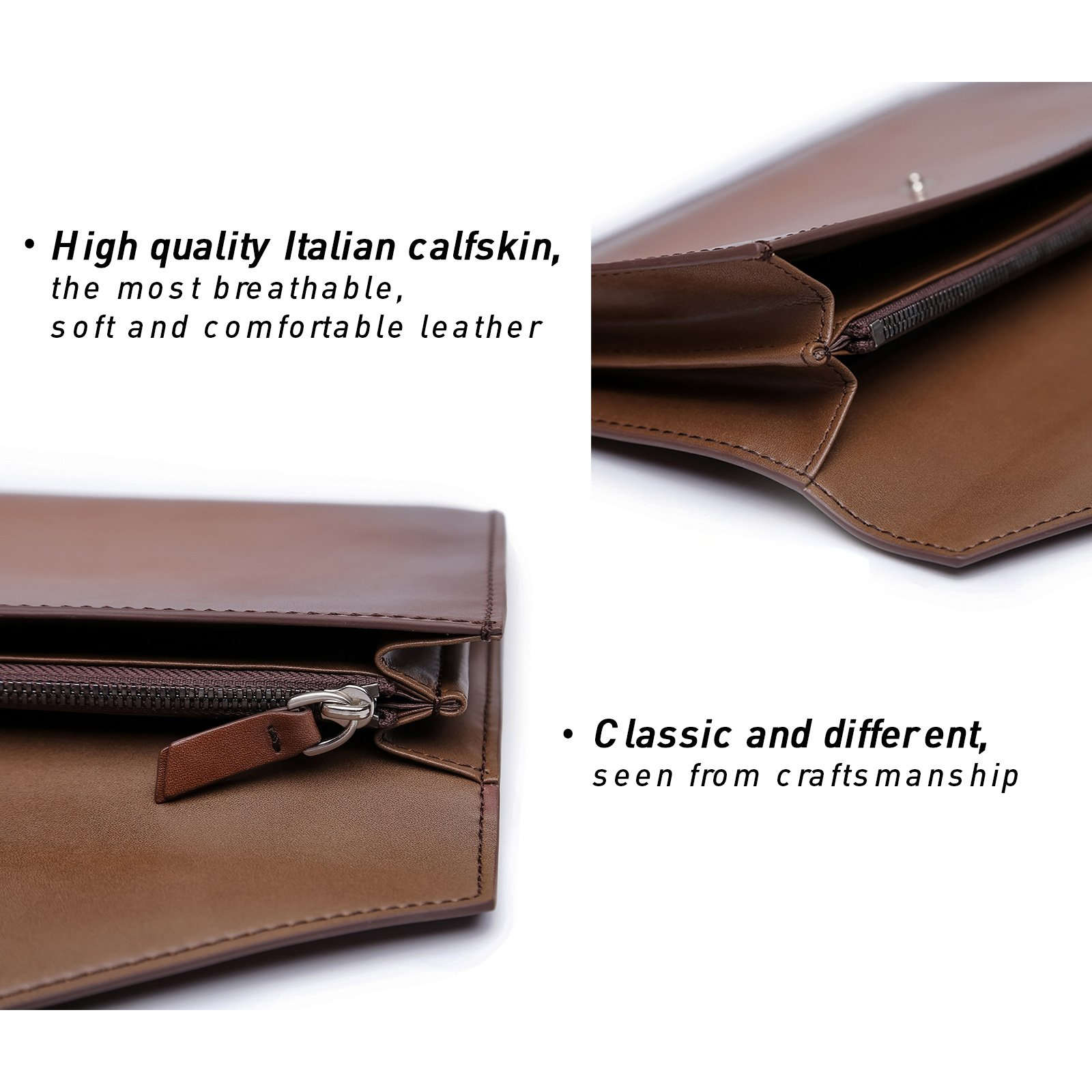 TERSE Clutch Bag for Men Italy Cowhide 100% handmade Messenger bag by TERSE (Image #3)
