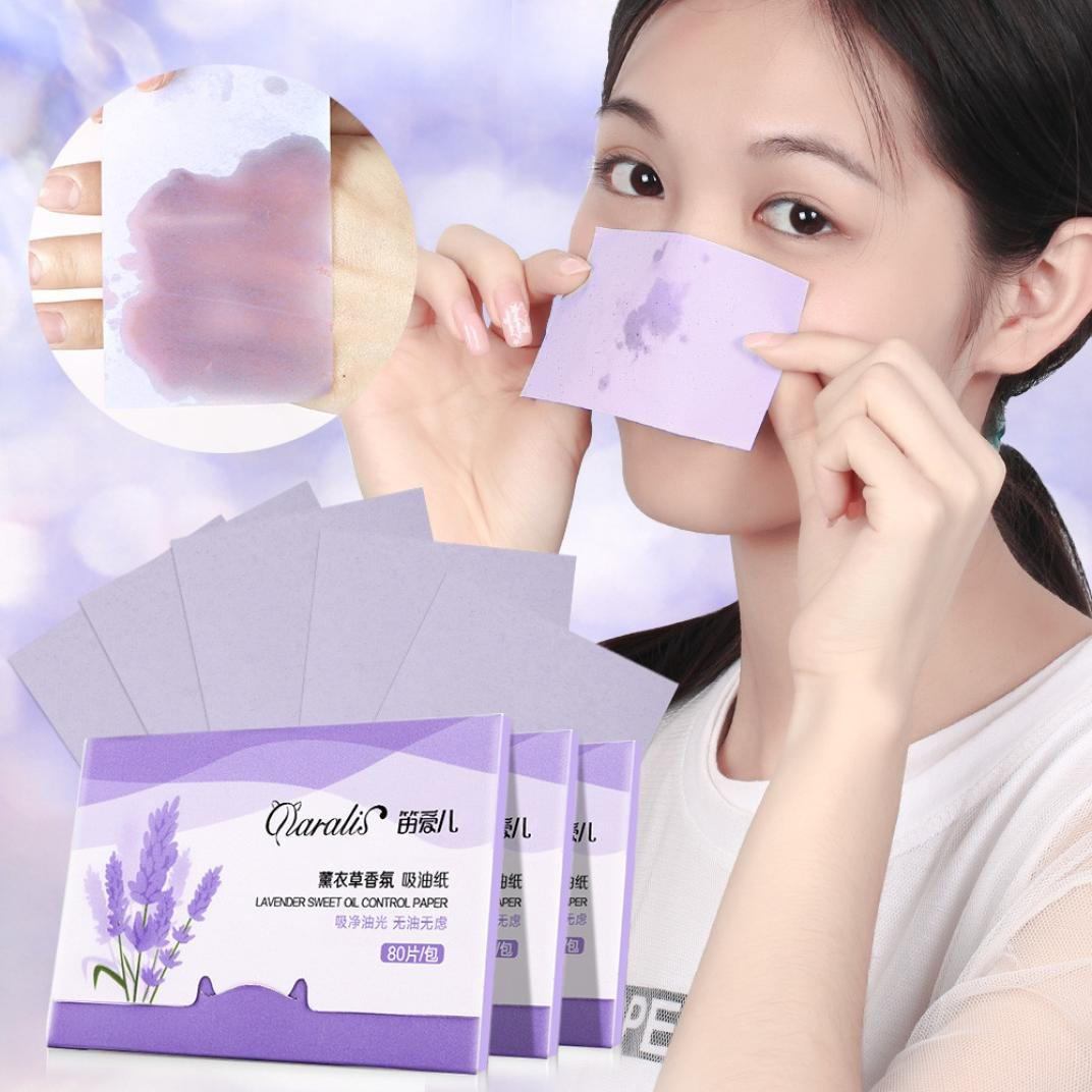 LiPing 80PCS Sheets Make Up Oil Absorbing Blotting Facial Beauty Salon Device Skin Care Cleansing Tool Facial Cleansing Devices (Cherry)