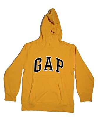 Amazon.com: GAP Boys Fleece Arch Logo Pullover Hoodie (Medium ...