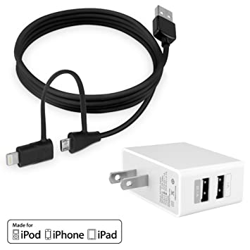 BoxWave Apple iPad 4 micro cable USB y conector Lightning ...