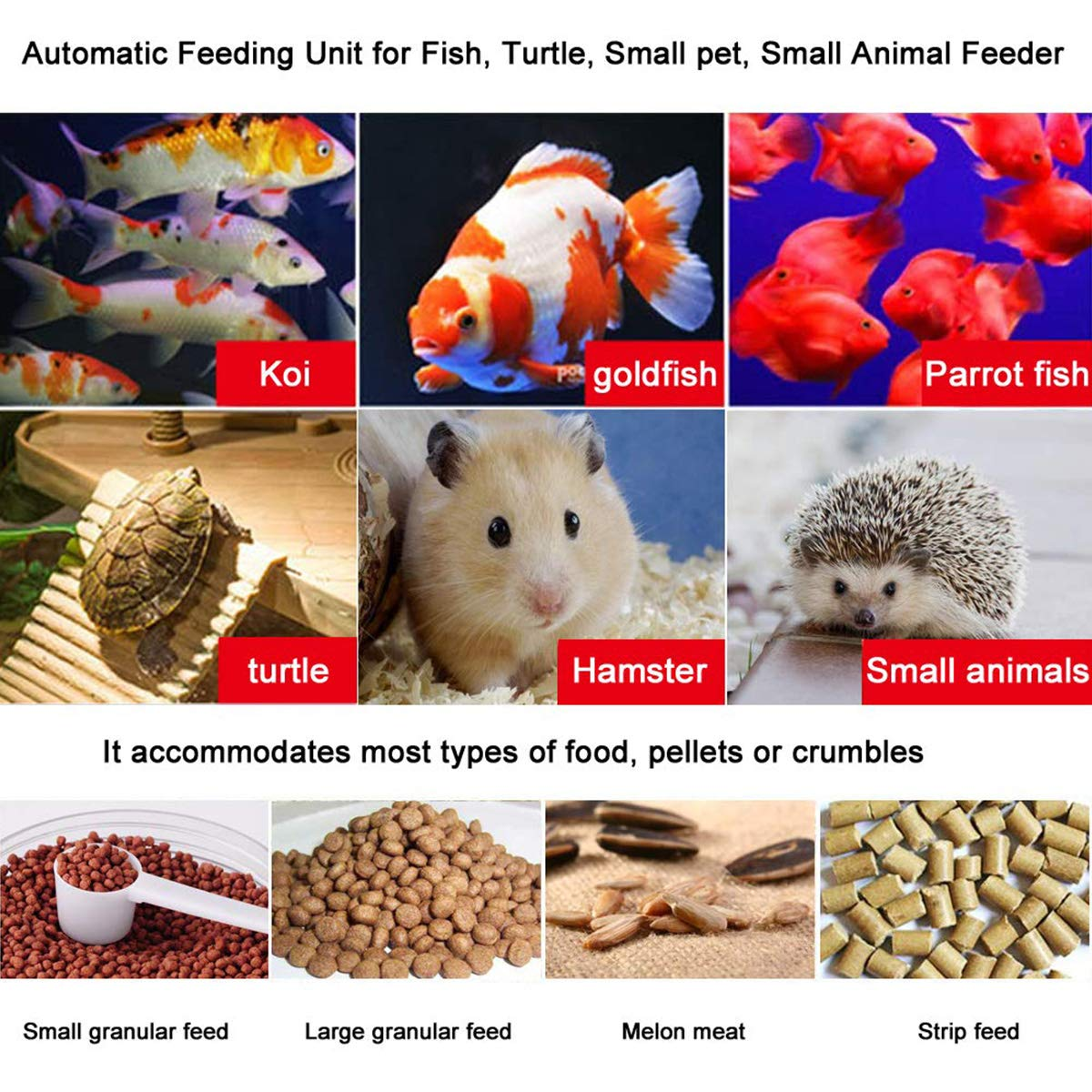 Automatic Fish Feeders by ALZERO, Electric Automatic/Manual Fish Feeder, Aquarium Tank Timer Feeder & Weekend 2 Fish Food Dispenser (AK-03) by ALZERO-Pet Supplies (Image #7)