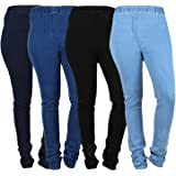 Womens Denim Jeggings DJ1234-5XL - Royal Blue and Black (pack of 4)