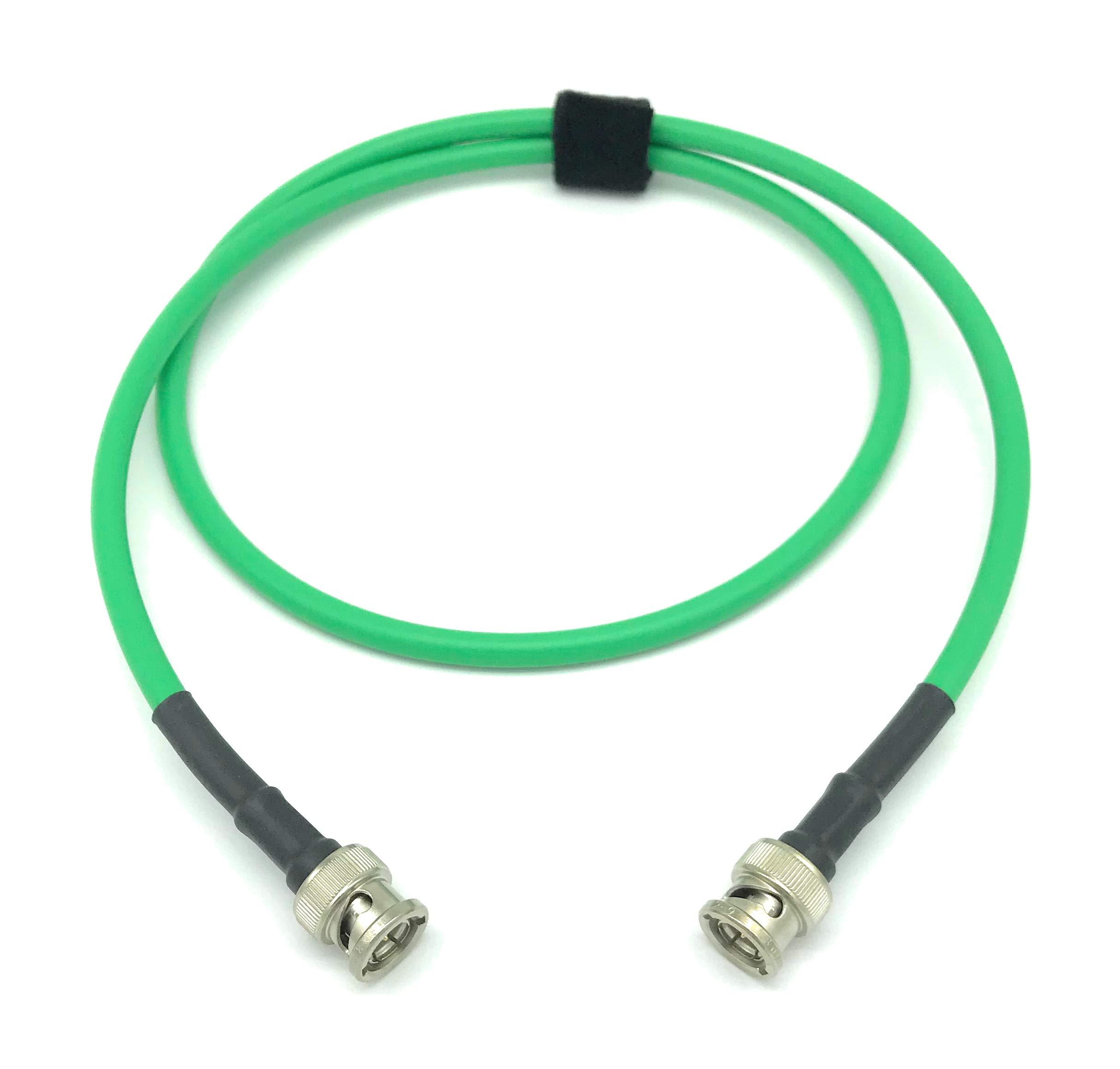 100ft AV-Cables 3G/6G HD SDI BNC Cable Belden 1505A RG59 - Green