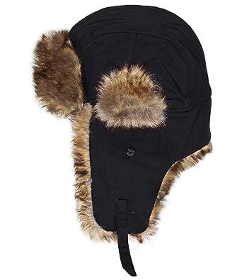 ... De Fourrure pour Hommes Toque en Chapeau D Aviateur Pilote d hiver  Coton Uni (FI-59336-W16-HE1-18-59) INCL Hutfibel  Amazon.fr  Vêtements et  accessoires 40698e584a2