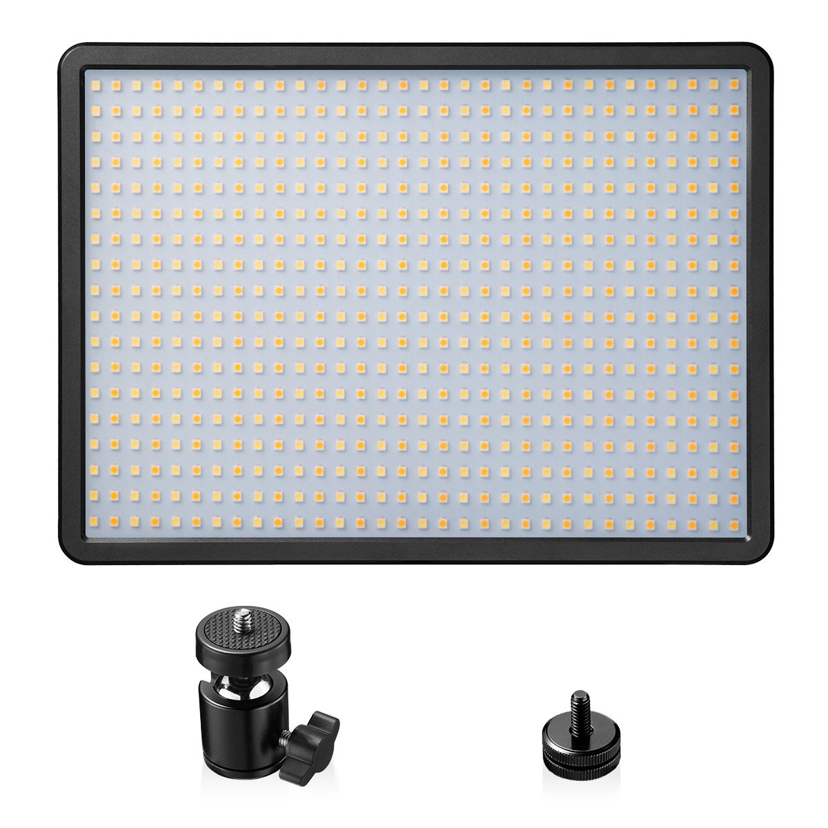 LED Video Light Panel, Powerextra 576 Beads 42W Bi-Color Dimmable Video Lamp Adjustable Color Temperature 3000K-6000K for Studio, Youtube, Photography, Video Shooting