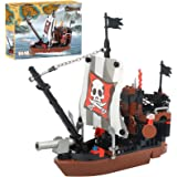 BRICK STORY Pirate Ship Building Blocks Toys...