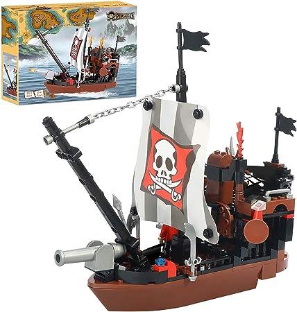 GUDI Legend of Pirates DIY hobbies kids entertainment 200 Pcs bricks Pirates Stronghold ship building blocks