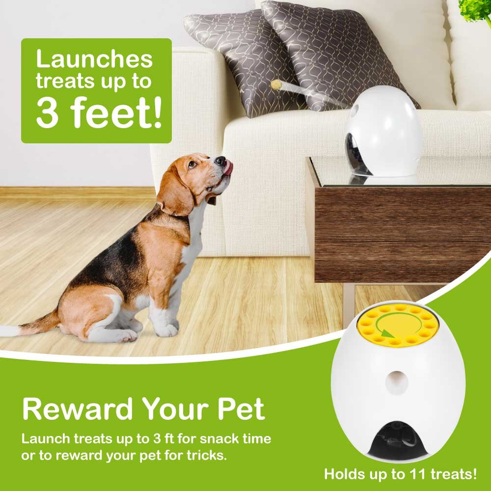 FUNPAW Q Cat & Dog Treat Dispenser w/Toy Laser: Monitor from Anywhere w/the App, 720p Hi-Res Pet Camera & 2-Way Audio by FUNPAW (Image #4)