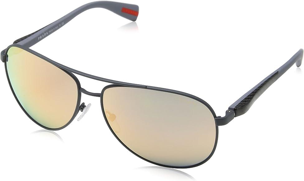 Amazon.com: Prada anteojos de sol ps51os tfz2d2 – 62 – Marco ...