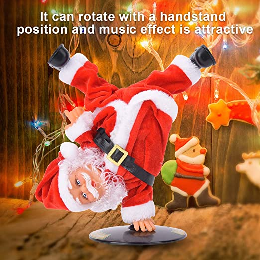 Amazon.com: Electric Santa Claus Upside-Down Street Dance Doll, Toys Decor  Decoration Inverted Dance Doll(Dancing Santa Claus): Toys & Games