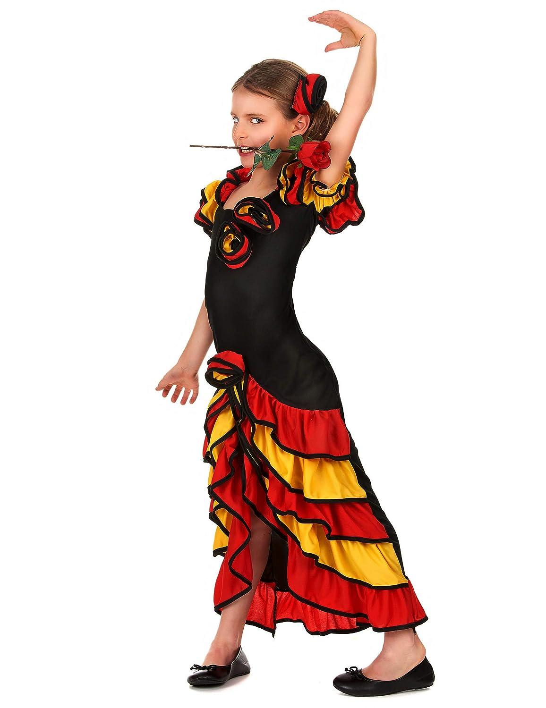 Disfraz de sevillana para niña 10-12 años (140/152): Amazon.es ...