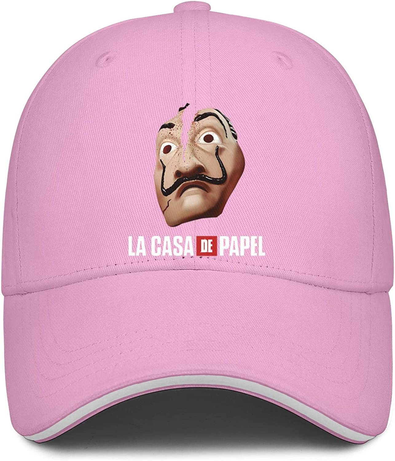 Men Relaxed Flat Hats La Casa De Papel Poster Womens Bucket Fishing Cap