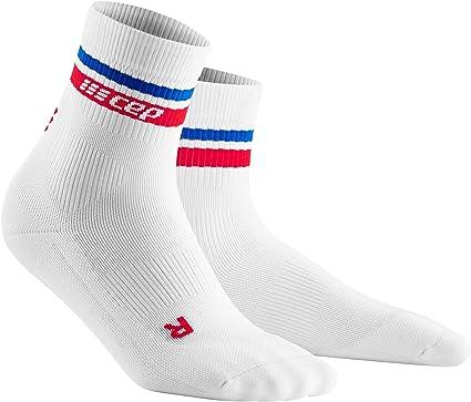 Women/'s Compression Socks White//Red/&Blue 3 CEP 80s Compression Mid-Cut Socks