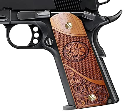 Amazon Com 1911 Full Size Grips Solid Wood Fits Government