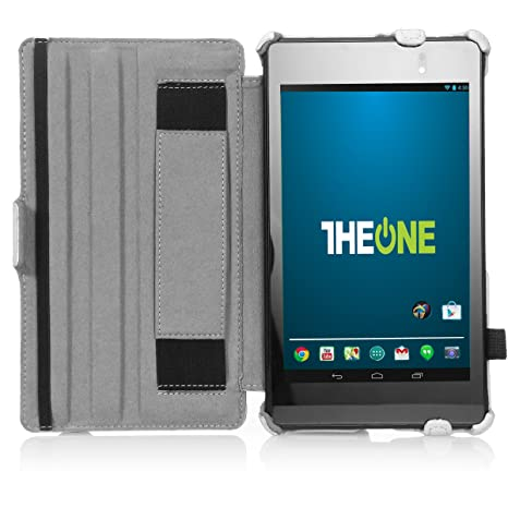 Google Nexus 7 Case Multi angle Stand Smart Cover for 2nd Gen Nexus 7  2013  By TheONE   White Touch Screen Tablet Bags   Cases