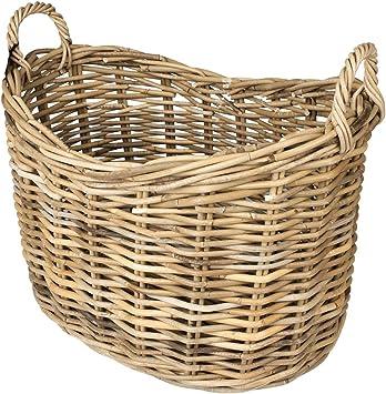 Valiant Scoop Top Rattan Wicker Log Storage Basket Dassels FIR225