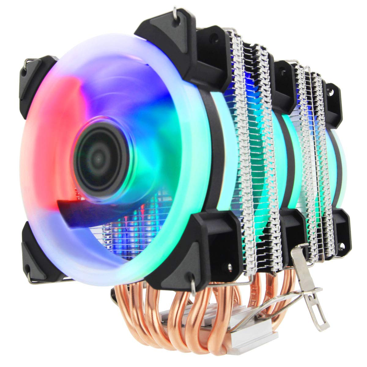 ALSEYE CPU Cooler PC Heatsink with 6 Heatpipes 4 Pin PWM 90mm LED Fan Computer CPU Air Cooling Cooler Radiator for Intel & AMD LED Color Won't Change