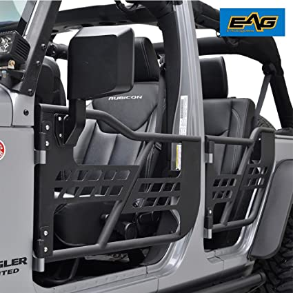 EAG 07-18 Jeep Wrangler JK Safari Tubular Doors With Mirror (4 Door Only & Amazon.com: EAG 07-18 Jeep Wrangler JK Safari Tubular Doors With ...