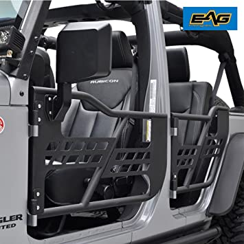 EAG 07-17 Jeep Wrangler JK Safari Tubular Doors With Mirror (4 Door Only & Amazon.com: EAG 07-17 Jeep Wrangler JK Safari Tubular Doors With ... Pezcame.Com