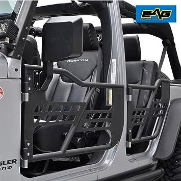EAG 07-18 Jeep Wrangler JK Safari Tubular Doors With Mirror (4 Door Only & Amazon.com: EAG 07-18 Jeep Wrangler JK Safari Tubular Doors With ...