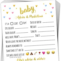 T Marie 40 Baby Shower Game Advice Cards - Baby Predictions, Words of Wisdom, and Advice for Mommy to Be - Perfect Baby…