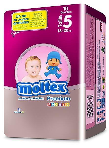 Moltex Premium AM13551020 Bolsa de Pañales Desechables - 10 Pañales