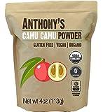 Organic Camu Camu Powder by Anthony's (4 Ounce)