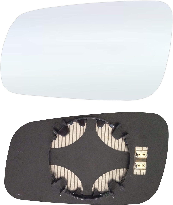 Links Fahrerseite Spiegelglas mit Platte und Heizung #AM-SKAFBA99-LCH