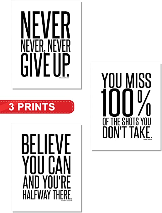 "Motivational Inspirational Success Art Print Poster 40/""x24/"" 154"