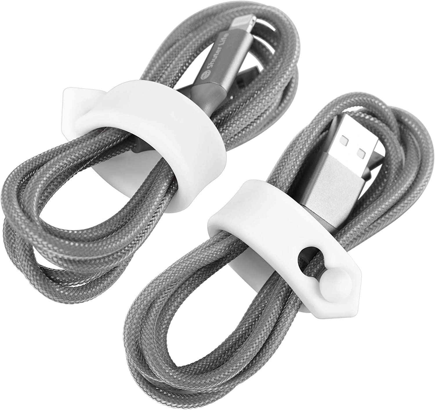 ELFRhino Cord Organizer Cable Straps Clips Wire Ties Earbuds Earphone Headphone Headset Wrap Winder Holder Keeper Manager Management Set of 9