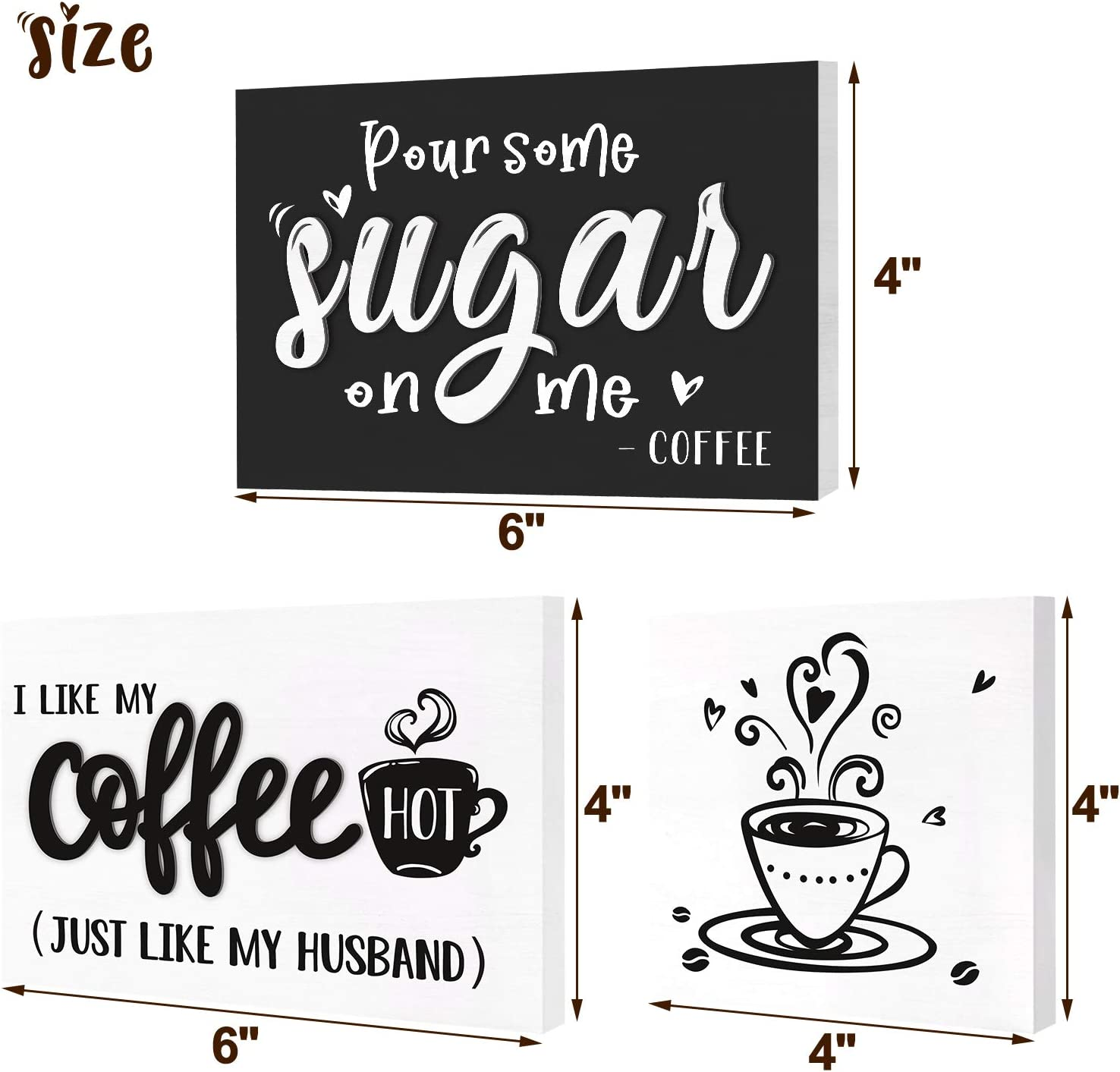 Huray Rayho Coffee Bar Tier Tray Decorations Kitchen Station Supplies But First Sign For Farmhouse Tiered Theme 3d Signs Mug Life Rae Dunn Collections Decorative Accessories