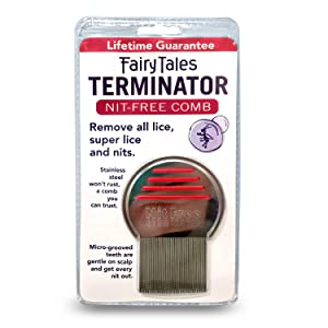 Fairy Tales Terminator Lice and Nit Comb (Color may vary)