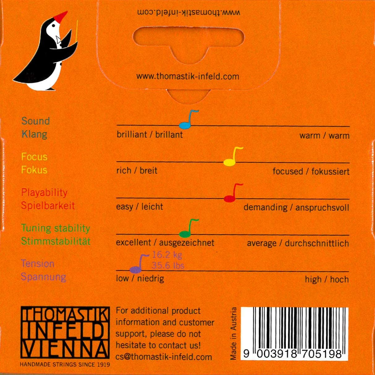 Thomastik-Infeld Violin Strings AL100.116