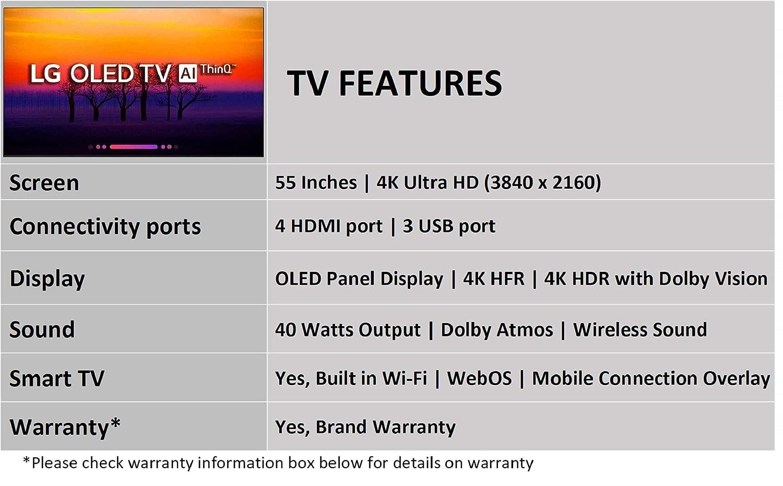 LG 139 cm (55 Inches) 4K UHD OLED Smart TV OLED55C8PTA (Black) (2018 model)