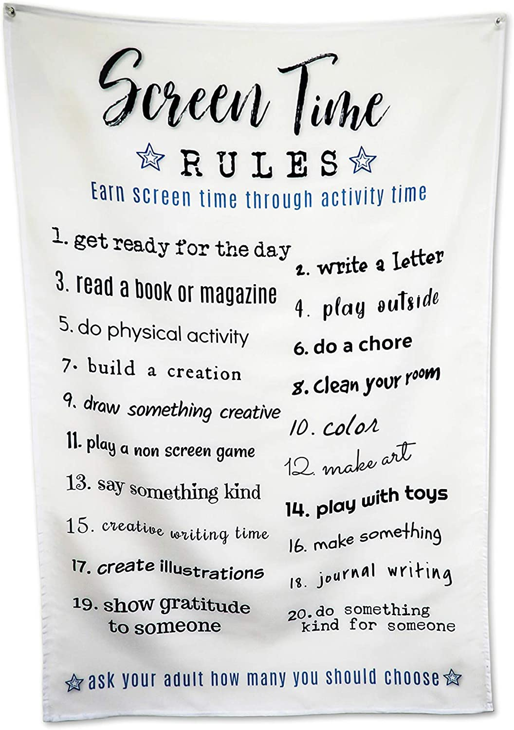 Screen time rules tapestry