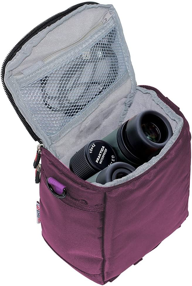 Navitech Black Protective Portable Handheld Binocular Case and Travel Bag Compatible with The Braun 16 X 50
