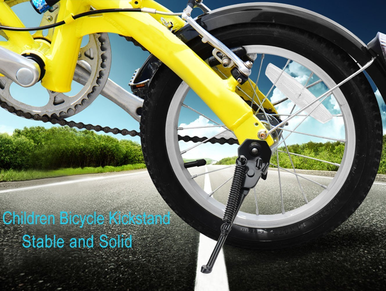 Fansport Bike Kickstand Rear Mount Stand Easy to Install Bicycle Support for Kids Bicycle