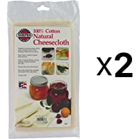Natural Cheesecloth Set of 2 2 Sq Yrds White
