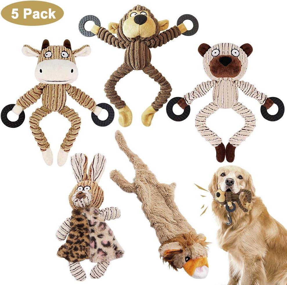 AYUQI Juguetes para Perros, 5 Piezas Grupo de Juguetes para Perros Durable Masticable Perro Chirriante Masticar Juguete de Entrenamiento de Dientes para Cachorros Pequeños Medianos Grandes Perros: Amazon.es: Productos para mascotas