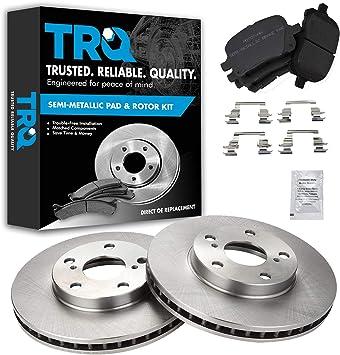 Front Semi-Metalic Brake Pads /& Rotors Kit for 1997-2001 Toyota Camry