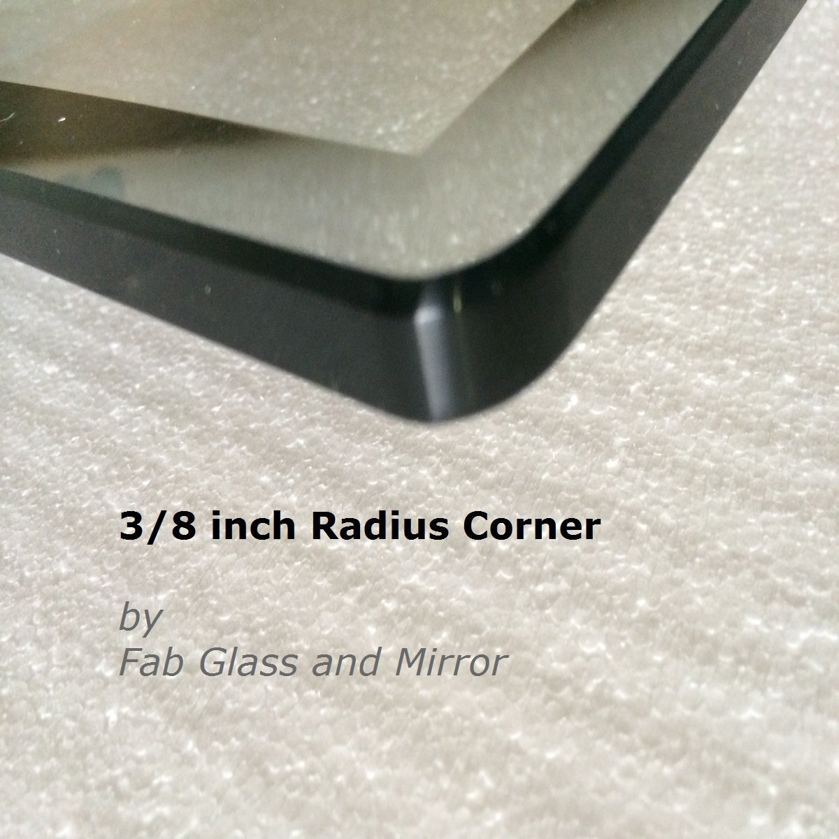 Fab Glass & Mirror Rectangle Glass 1/2'' Thick Beveled Tempered Radius Corners, 24'' L x 48'' W by Fab Glass and Mirror