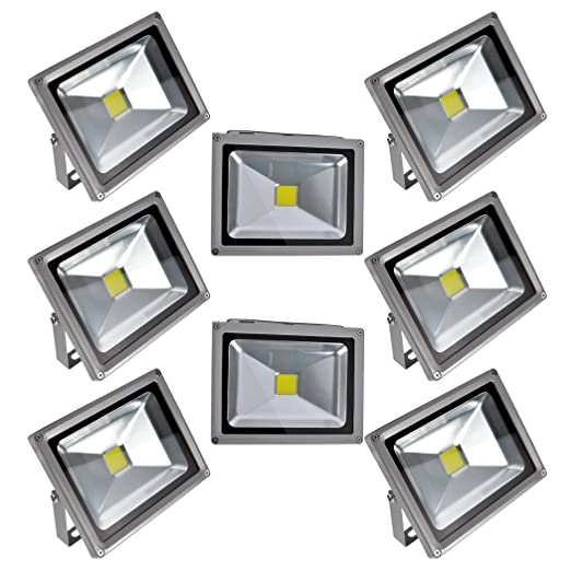PrimLight 8 pcs 20W Impermeable Blanco Cálido Luz Foco LED ...