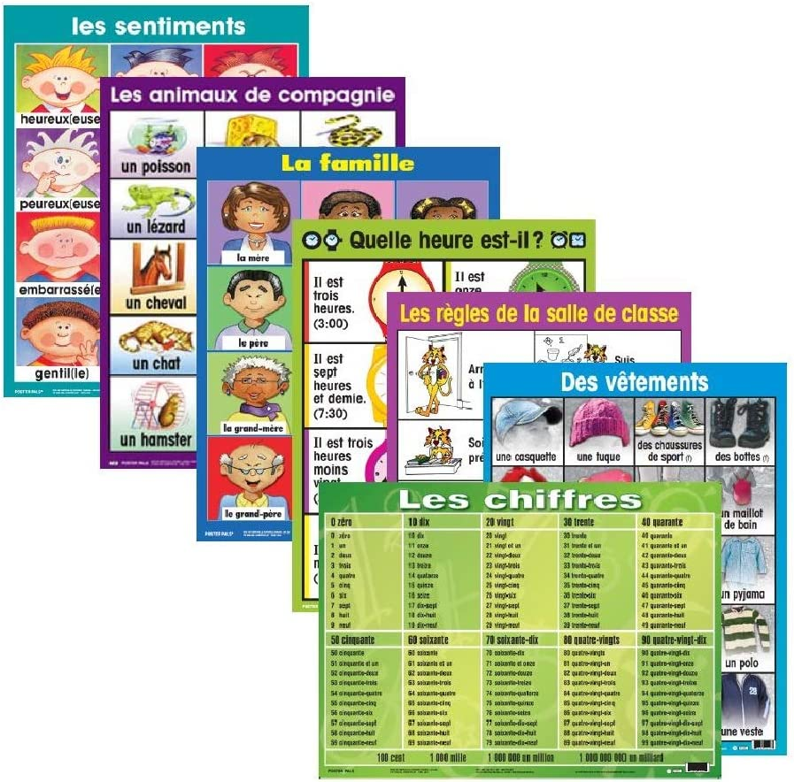 French Classroom Posters No 1 7 pk Office & School Supplies Office ...