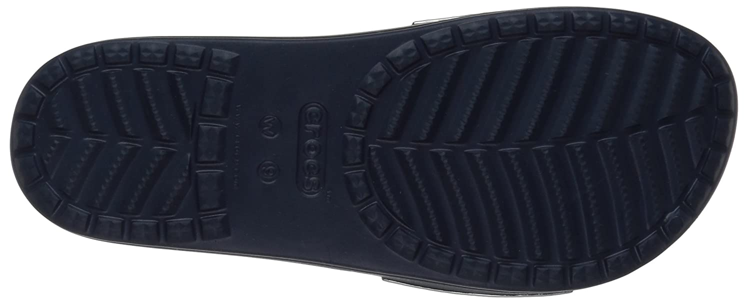 Crocs Women's Sloane Hammered Metallic Slide B0787H2KDY 8 M US|Navy/Navy