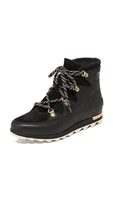 Sorel Explorer Joan Bottes Canadiennes Sorel Sneakchic Alpine Black  Bottes Souples Femme  Sea Salt 010)  Noir (Black Sorel Explorer Joan RaXP4QNV